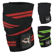 "Knee Wrap Weight Lifting Bandage Strap Braces Sleeves 78"" Power lifting Training"