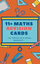 11+ Maths Exam Revision Cards for Competitive Grammar School Exams - 50+ cards