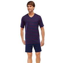 SCHIESSER pijama de hombre corto 100% algodón talla 48-64 S-6XL Ropa dormir