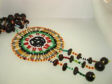 Seed And Glass Bead Necklace! Vintage Native American Intriacate Large