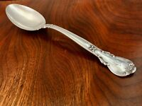 - GORHAM CO. STERLING SILVER SERVING SPOON: CHANTILLY, MONOGRAM G
