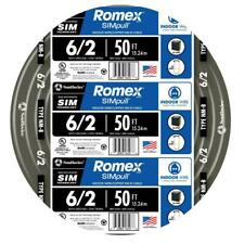 Southwire Residential Electrical Wire 50 ft. Indoor Romex SIMpull Black
