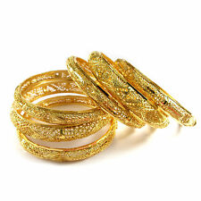 Rabbi Gold-plated 6pc Flora Net Bridal Bangles Set kada bracelet  (size 2.2)