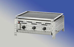 Lavasteingrill Erdgas 3 flammiger Gasgrill Made in Germany