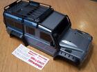 Traxxas TRX-4 1/10 Crawler Land Rover Defender Grey Body Exo Cage Roof Rack Tire