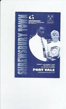 Port Vale Away Team Pre-Season/Friendly Football Programmes