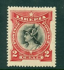 Liberia 1906, Mercury, 2C, SC# 102, Carmine & Black, MLH
