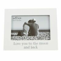 Love You to the Moon & Back Photo Frame White Wall Art Gift Novelty Homewares