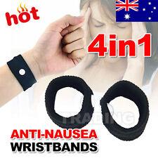 4PCS Anti Nausea Wristbands Travel Sick Bands Motion Sea Plane Car Sickness