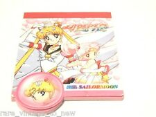 NEW VINTAGE Super Sailor Moon & Sailor Chibi Rini Mini Notes Notepad 1992 Book