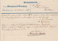 BRACKWEDE, Brief 1877, Hermann Windel
