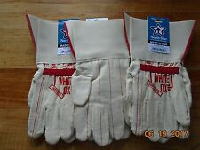 NORTH STAR WHITE OX 1015 Gauntlet Gloves 3 pair LARGE made in the U.S.A.