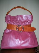 Rachel Abroms  Handbag Pink Leather Stones/Crystal $100 off