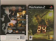 24 THE GAME PLAYSTATION 2 PS 2 PS2 BAUER RARE STEELBOOK