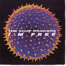 """THE SOUP DRAGONS  I'm Free PICTURE SLEEVE 7"""" 45 record + juke box title strip"""