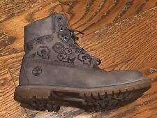 """Timberland 6"""" Premium Waterproof Leather Deep Grey Double Sole Boots SZ:8 Womens"""
