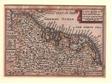 Antique 1627 Map XVII PROVINCES OF LOW GERMANY, HOLLAND by Van Der KEERE - SPEED
