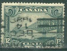 Canada 1928 - 12¢ Grey Quebec Bridge- Sc#156