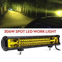 306W 102 LED Work Light Bar Driving Lamp Amber Offroad Car SUV ATV UTV 4WD