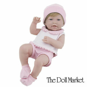 """Berenguer 17"""" La Newborn Doll 18105 Baby Girl in Pink Outfit - New in Box"""
