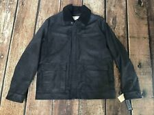 Michael Michael Kors Big Tall Sherpa Lined Leather Jacket Black Mens XLT