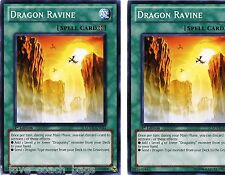 2 X Dragon Ravine sddL 1st  Mint Common YU-GI-HI!
