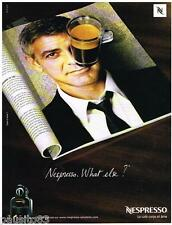 PUBLICITE ADVERTISING 095  2008  NESPRESSO   café GEORGE CLOONEY