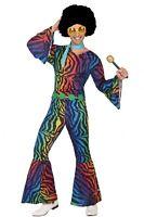 Déguisement Homme Disco Multicouleur S Costume Adulte Année 1980 NEUF Pas cher