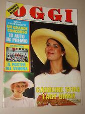 OGGI=1985/21=CAROLINE DE MONACO=QUELLA DELLA NOTTE=SPECIALE INSERTO AUTOMOBILI=