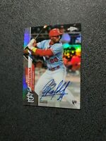 2020 Topps Chrome Randy Arozarena Rookie Refractor Auto #'d/499 RAYS INVEST