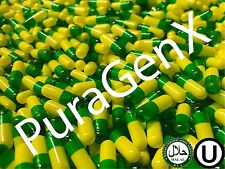 EMPTY GELATIN COLOR CAPSULES - GREEN/YELLOW - SIZE 1 - (KOSHER) US QUALITY