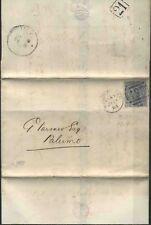 1883 Gran Bretagna, lettera da Manchester per Palermo con 2 1/5 p