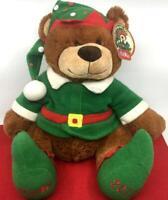 BELKIE 2012 TEDDY BEAR  CHRISTMAS ELF PLUSH BELK DEPT.  STORE ADVERSING W TAG