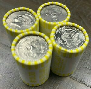 4 rolls of Half Dollars - Unsearched - FED SEALED- Possible 40% 90% SILVER coins