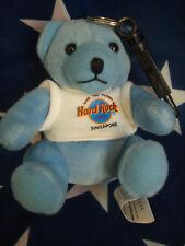HRC Hard Rock Cafe Singapore Blue Key Chain Bear