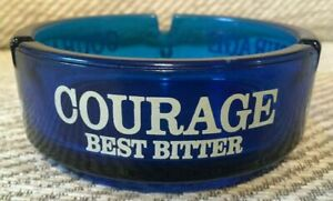 VINTAGE COURAGE BEST BITTER ADVERTISING ROUND ASHTRAY FOR A MANCAVE/ HOME BAR