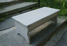 "Handcrafted Heavy Duty Wood Bedside Step Stool, Bed 9"" tall, 11"" x 24"" Gray"