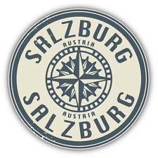 """Salzburg Austria Grunge Travel Stamp Car Bumper Sticker Decal 5"""" x 5"""""""