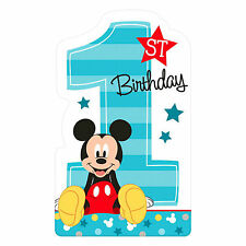 8 Disney Mickey Mouse Fun One 1st Birthday Party Postcard Invitations