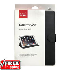 "Verizon Wireless OEM Leather Folio Case Cover iPad Air 2 Pro 9.7"" Black NEW"