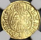1458 NGC UNC Det Hungary Gold Gulden Matthias Corvinus Madonna Christ (19042902C