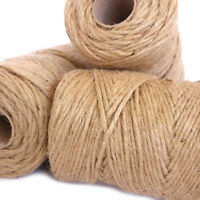6Ply Thick 200m Rustic Natural Jute Hessian Burlap Twine Tag String Ribbon Cord