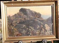 Adolf Theodor Franck AFranck 1841 - 1929 Hamburg Original Ölbild Gemälde Felsen