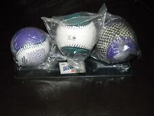 ARIZONA DIAMONDBACKS INAUGURAL SEASON BASEBALLS  3-BALL SET - NICE!!! brand new