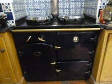 WATSON EASTWOOD RANGE COOKER NAVY BLUE BRASS OIL FIRED 90CM WORKING OVEN