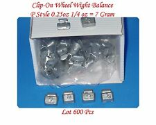 Wholesales 600 Pcs 0.25 oz 1/4 oz P Style Steel Wheel Weight, Clip on balancing