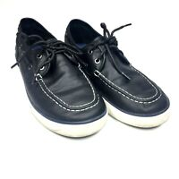 Mens Nautica Sz 6 Blue Leather Boat Dock Shoes Loafer Shoes