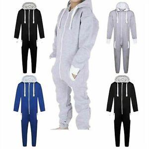Kids Childrens Unisex Hooded All In One 1Onesie Jumpsuit