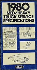 1980 Ford Truck Service Specifications Manual F600 F700 F800 C600-8000 L-Series