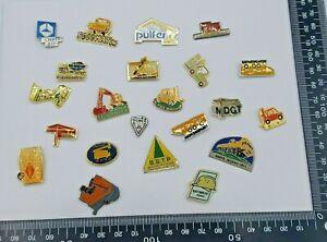 Job Lot Pin Badges x 22 - Industrial Crane & Fork Lift Promotional Advertising